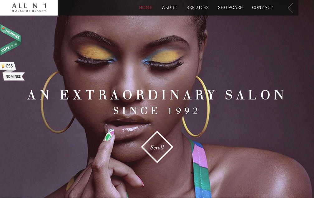 Красивый и современный одностраничный сайт выполнен на WordPress HTML5 CSS3