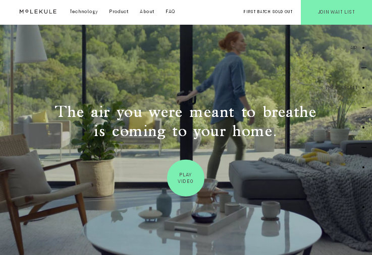 Пример современного стильного продающего сайта