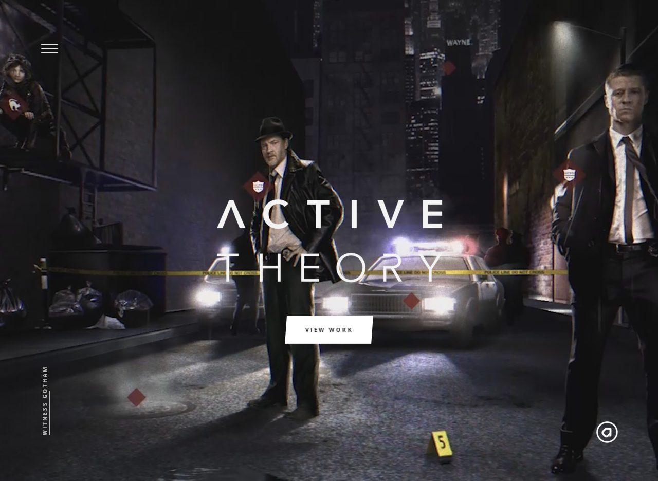 Увлекательная интерактивная главная страница сайта калифорнийской продакшн-студии Active Theory