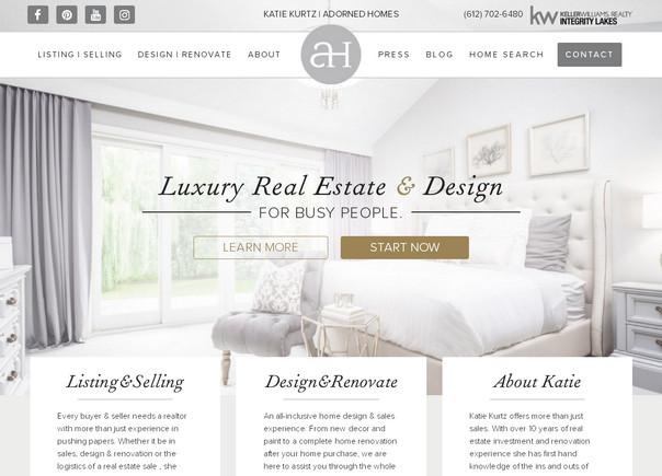 Воздушный стиль главной страницы дизайнерского сайта