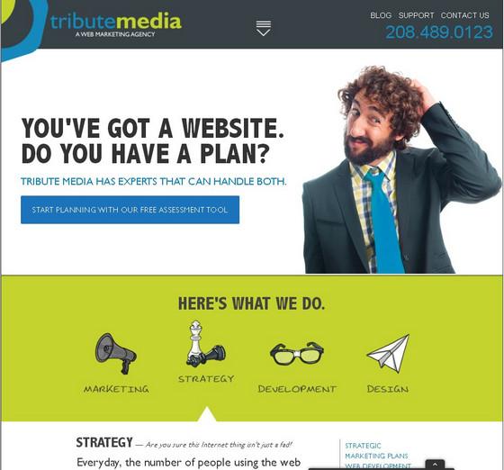 Лаконичное оформление главной страницы сайта