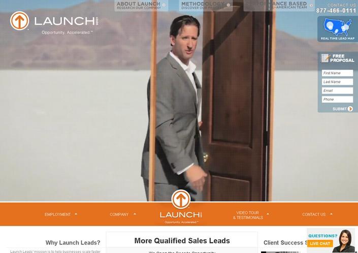 Эффектное продающее видео на первой странице - сайт launchleads.com