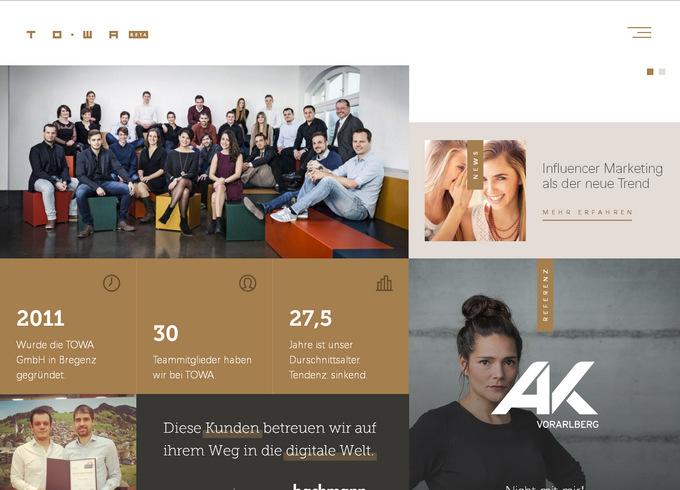 Плитки и минимум цветов - тренды Web-дизайна 2017