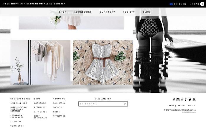 Идеи как оформить футер сайта интернет-магазина