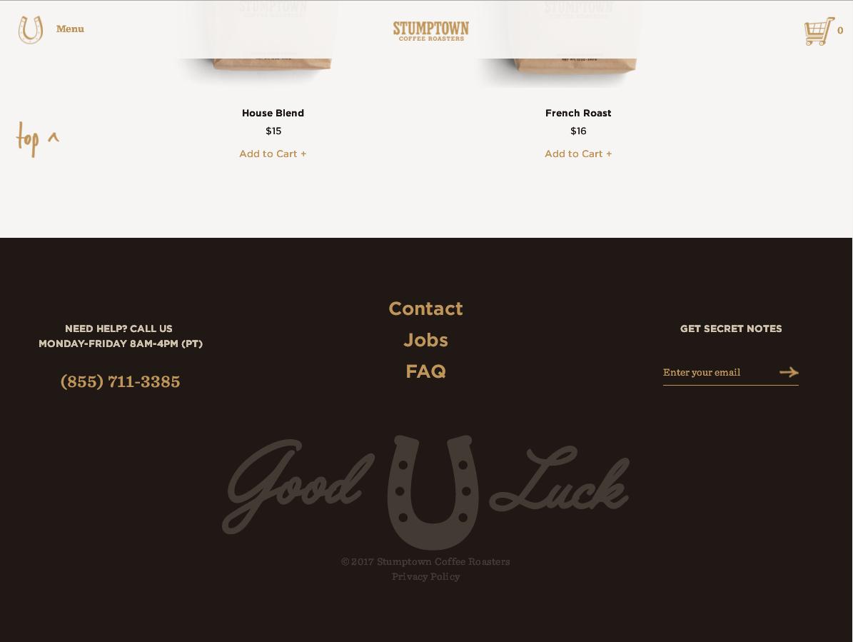 Красиво оформленный футер сайта с чистым продающим дизайном