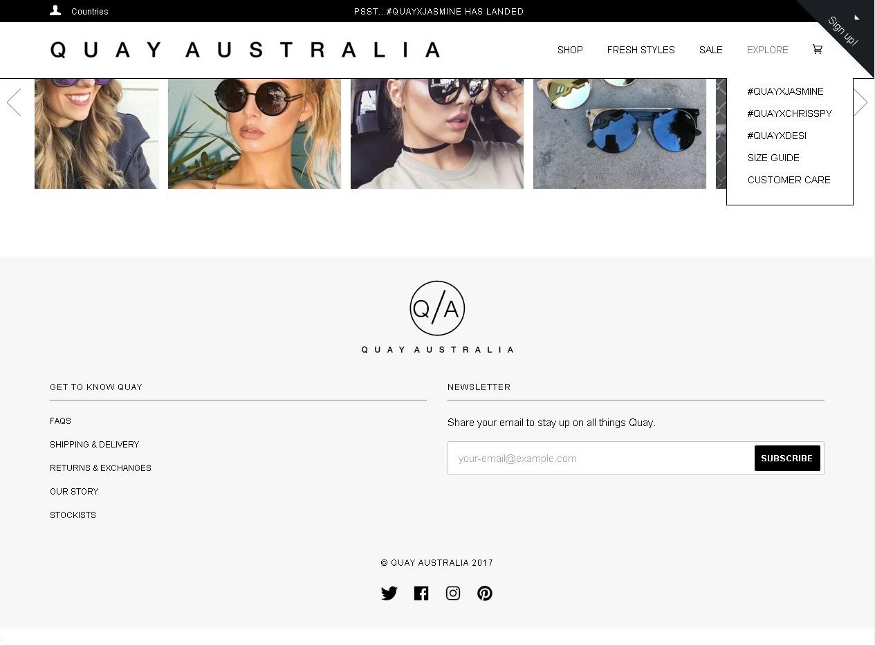 минималистичный дизайн футера интернет-магазина