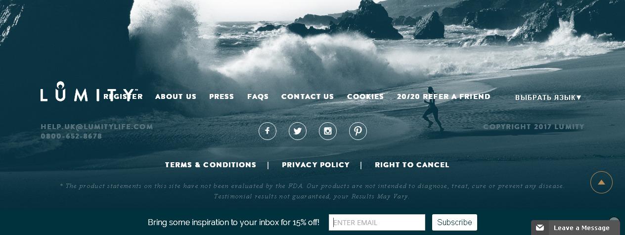 Красивое оформление футера eCommerce сайта