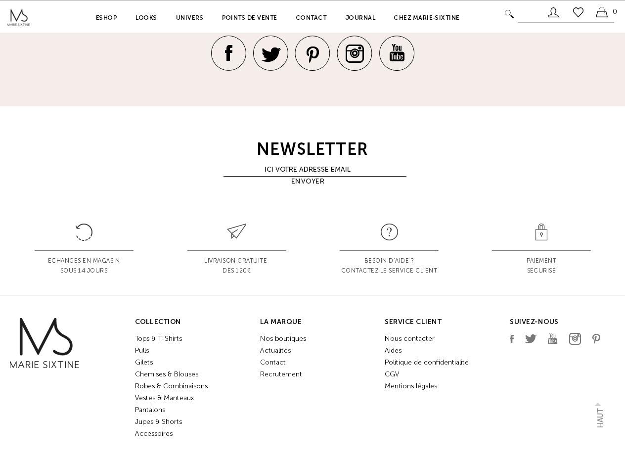 Пример правильного оформления футера ecommerce сайта: элегантный утонченный стиль