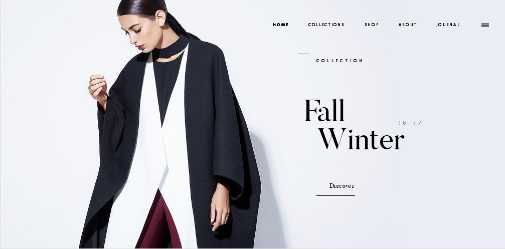 Пример красивого дизайна сайта электронного магазина