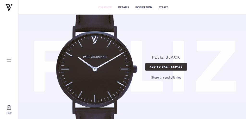 Пример красивого дизайна сайта электронной торговли