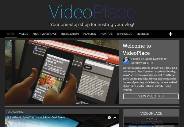 Бесплатный шаблон WordPress для видеоблога