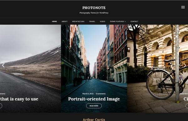 Красивая тема WordPress для фотографов позволит создать запоминающийся видео-сайт
