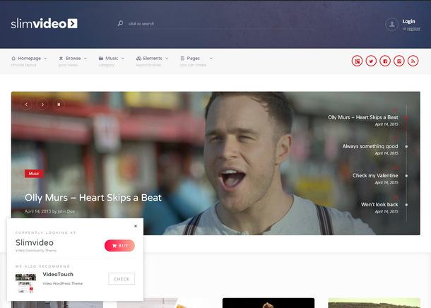 Видео-тема WordPress для сайта сообщества