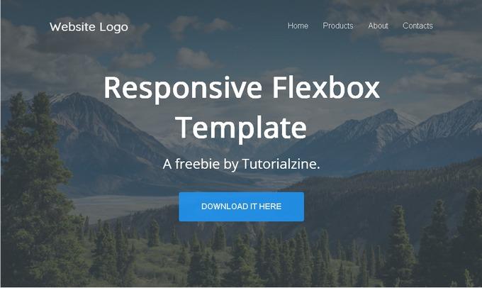 Flexbox Responsive Landing Page - бесплатный адаптивный LP-шаблон на HTML