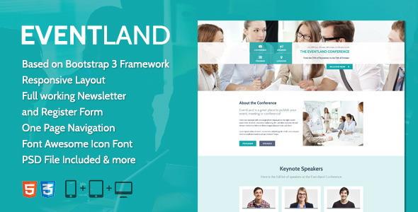 Красивый одностраничный HTML5 шаблон Landing Page