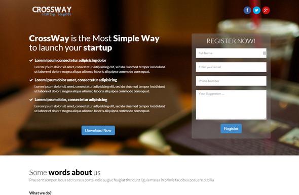 Landing page шаблоны: Crossway – красивая ультра-адаптивная одно/много страничная HTML5 тема лендинга на Bootstrap 3.1.1