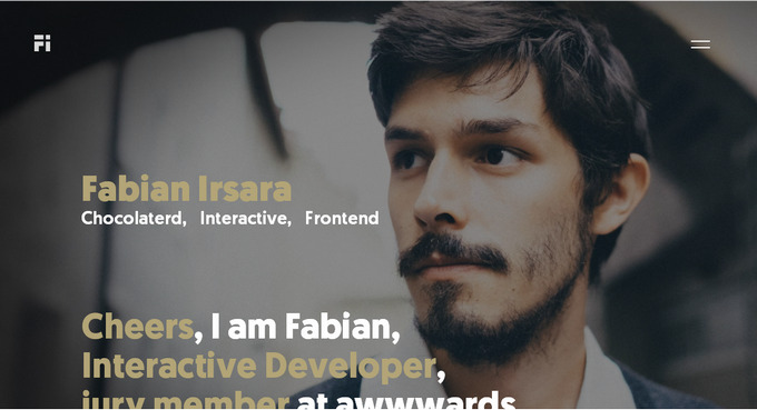 сайт-портфолио с креативным дизайном