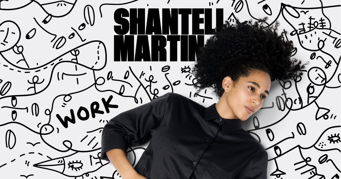 Shantell Martin - индивидуальность в оформлении продающего сайта с портфолио