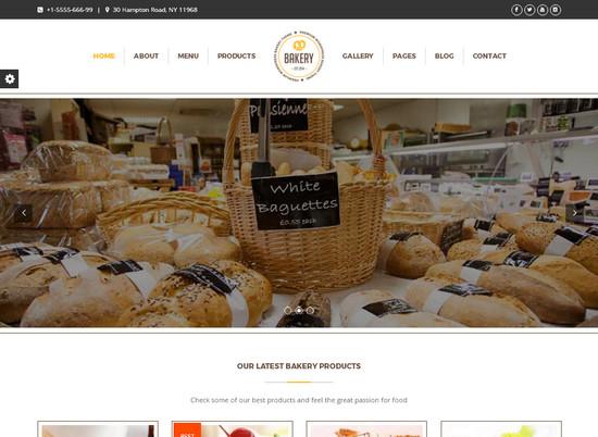 Bakery – кулинарная тема WordPress удобная для индивидуального оформления