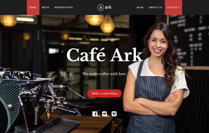 Тема для кулинарного сайта или блога