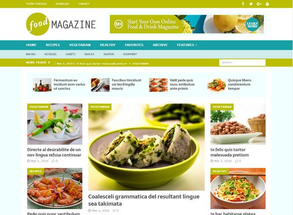 Тема для кулинарного сайта MH Magazine