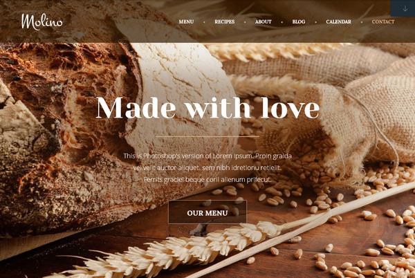 Кулинарные темы WordPress: Molino - лучшее решение для сайта пекарни и кондитерской