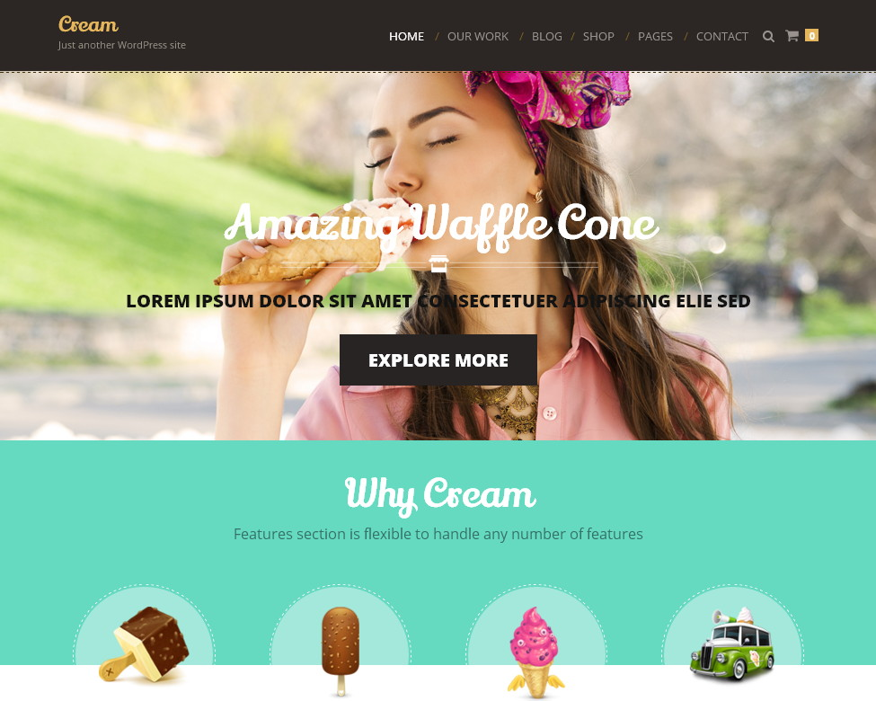 Cream – адаптивная кулинарная тема WP о еде