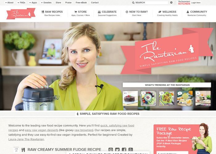 Популярный кулинарный сайт с рецептами приготовления вегетарианской еды