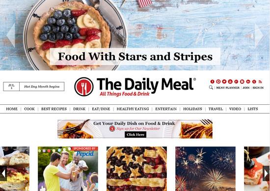 Грамотно оформленный зарубжный кулинарный сайт