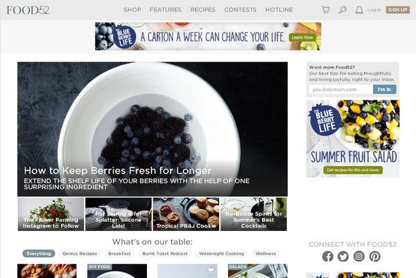 зарубежный портал с кулинарными рецептами и онлайн-магазином