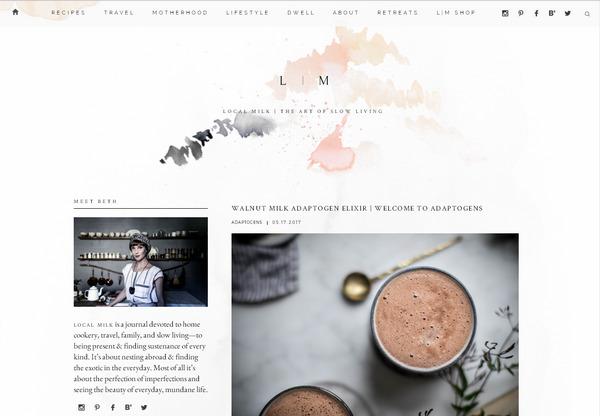 кулинарный блог с минималистичным дизайном