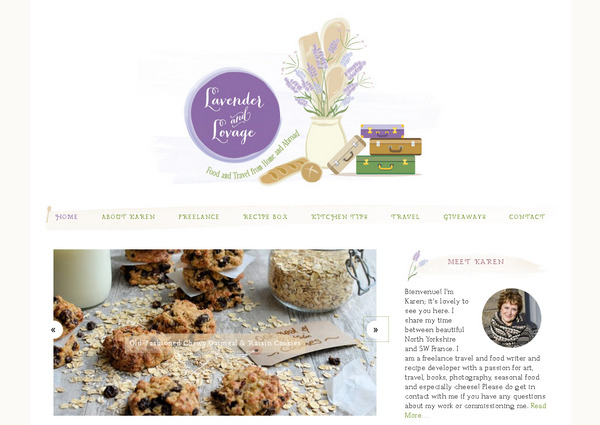 Зарубежный блог кулинарных рецептов с приятным дизайном