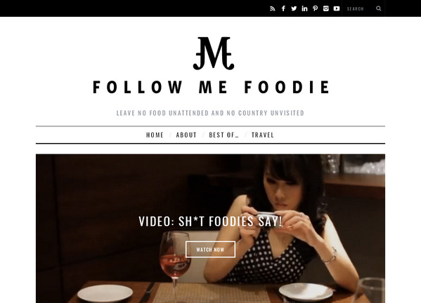 Минималистичный блог о путешествиях и вкусной еде