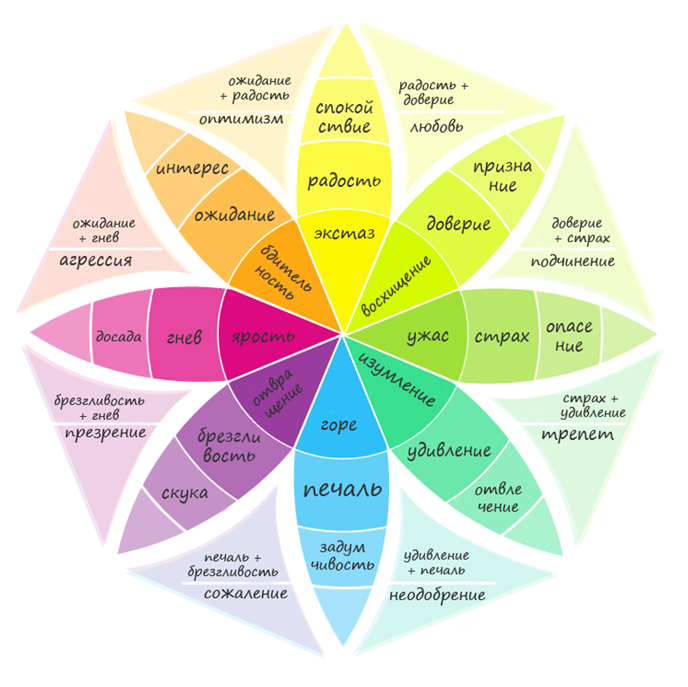 Влияние цвета сайта на пользователя по теории эмоционального поведения Р. Плутчика