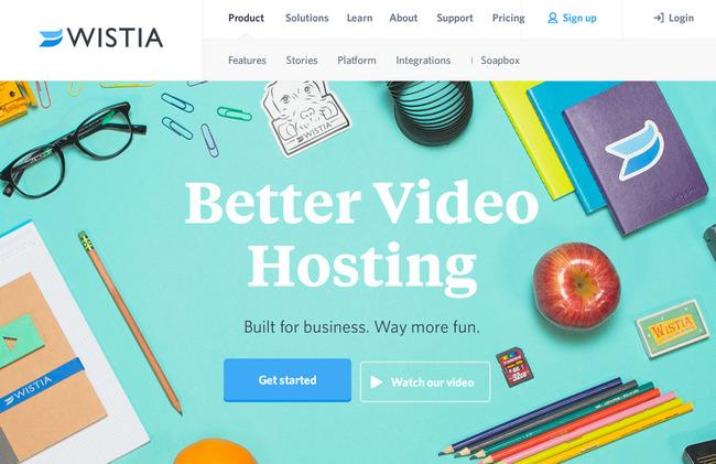 Яркий сайт с красивыми плоскими кнопками призыва к действию