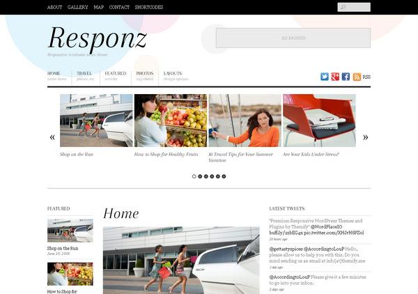 Минималистичная тема WordPress для новостного сайта или блога