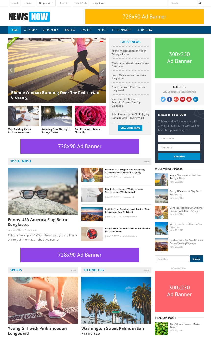 Темы оптимизированные для рекламы
