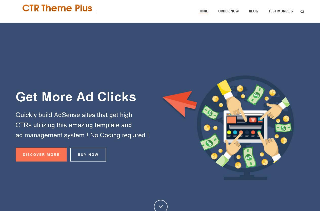 WordPress шаблон для увеличения дохода с контекстной рекламы Гугл Адсенс и РСЯ