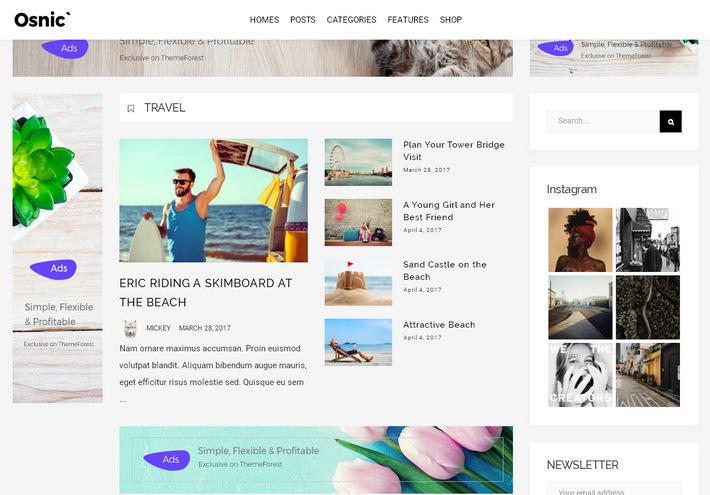 Журнальная и блоговая тема WordPress оптимизированная для увеличения эффективности рекламы AdSense