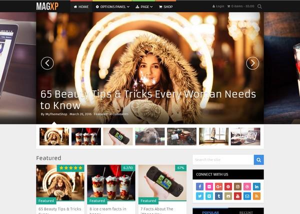 Журнальная тема WordPress с виджетом для рекламы AdSense – подойдет блогу, развлекательному, новостному, кулинарному и eCommerce сайту