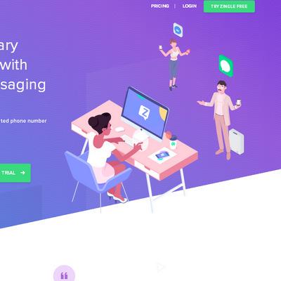 Тенденция в дизайне сайтов 2018: тематические иллюстрации