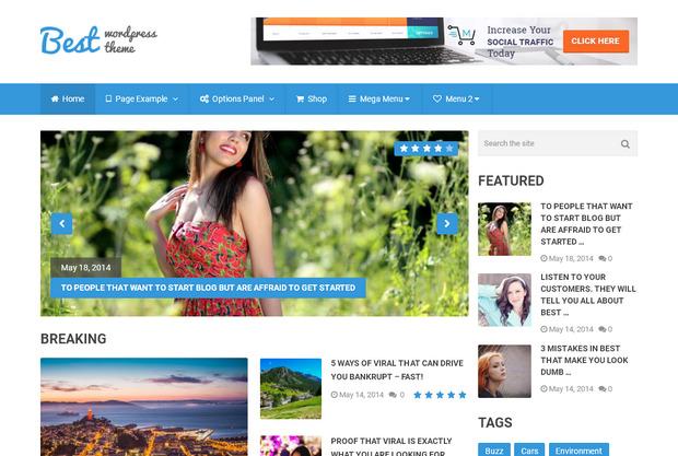 Best – шаблоны WordPress оптимизированные под Adsense