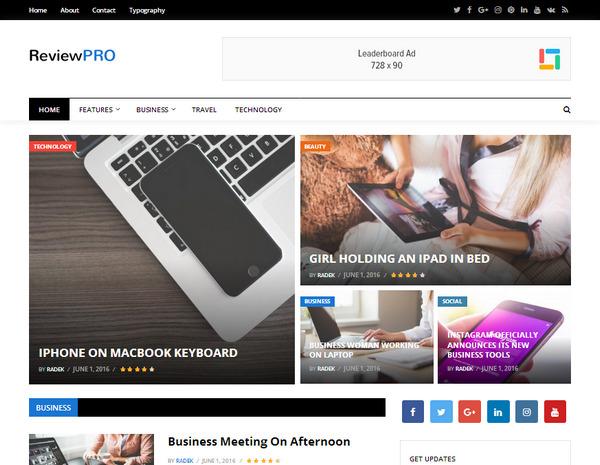 Журнальная/новостная тема WordPress оптимизированная под Adsense