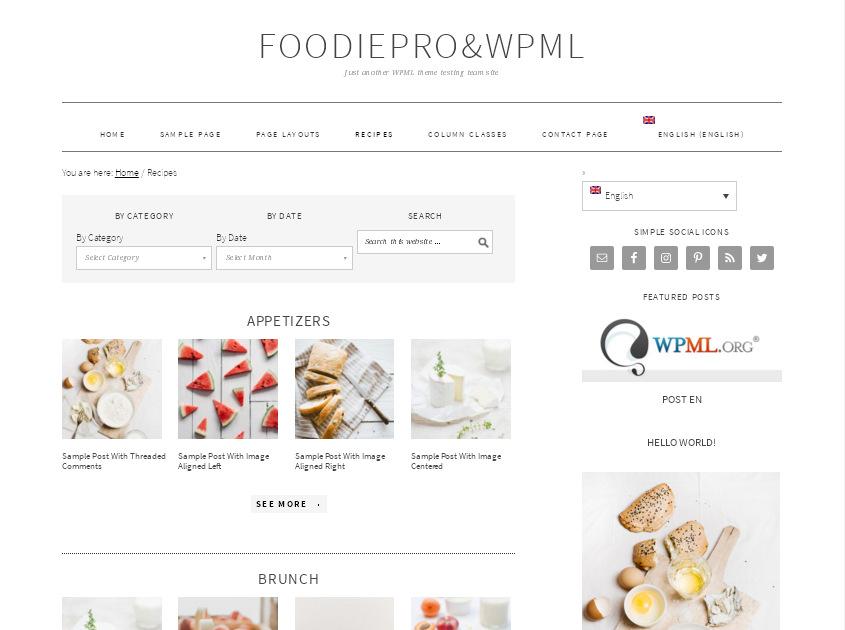 Foodie Pro – популярная кулинарная тема на WordPress, оптимизирована для заработка на рекламе Adsense