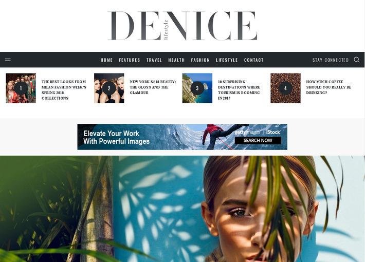 Журнально-блоговая тема оптимизированная для рекламы Adsense