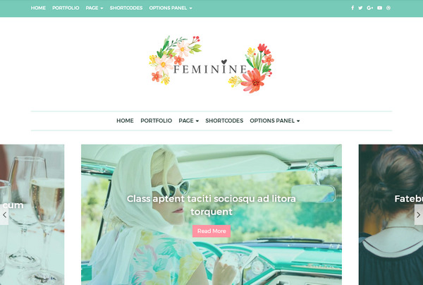 Feminine – женская тема для wordpress – для заработка на контекстной рекламе Adsense