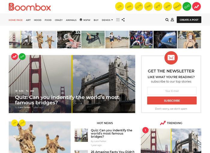 BoomBox – свежая многоцелевая тема WordPress, оптимизирована для рекламного дохода (лучшие позиции для размещения рекламы AdSense)