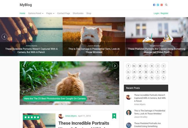 Красивая WordPress -тема оптимизированная для рекламы Adsense