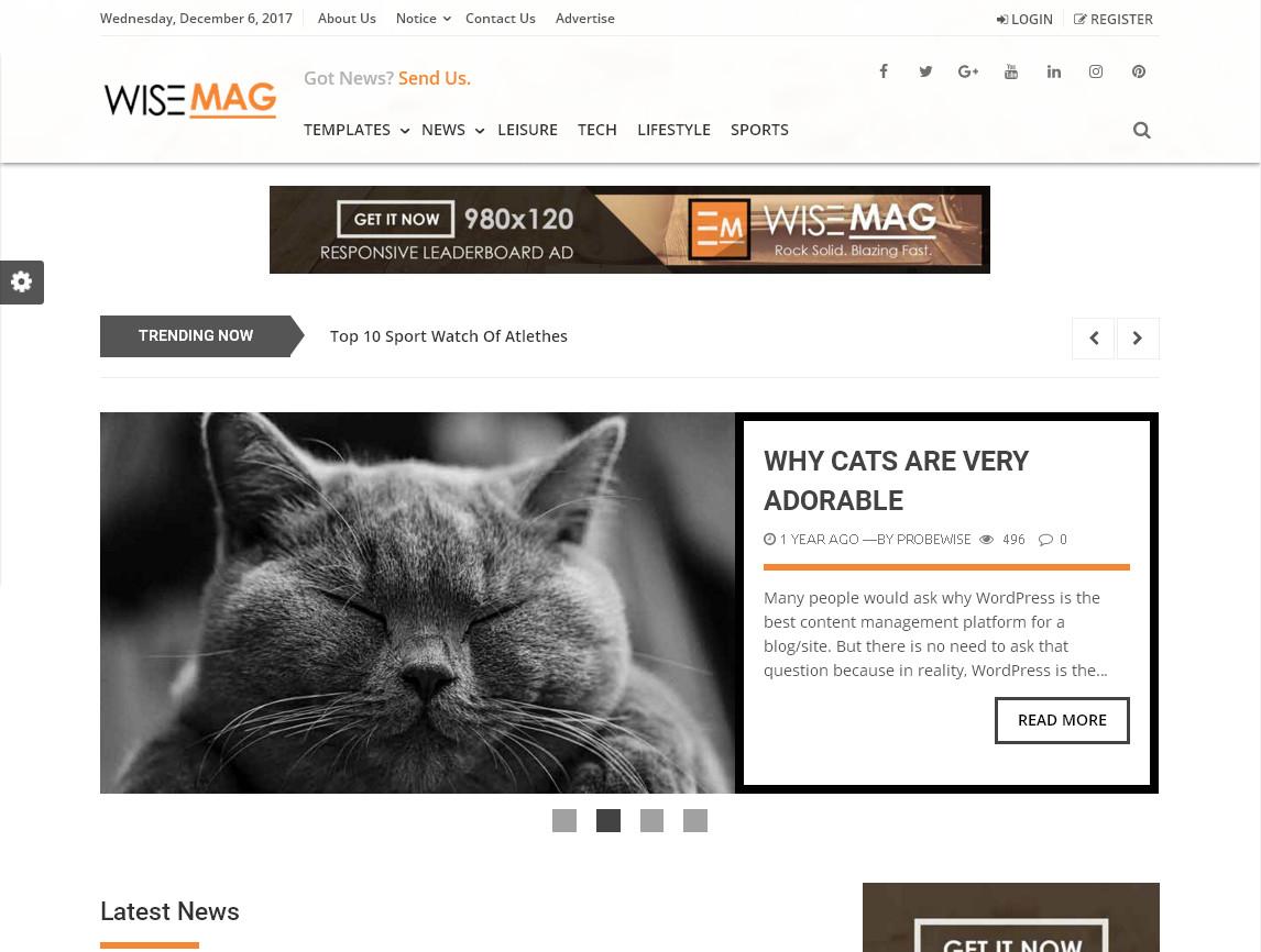 Блоговая WordPress тема оптимизированная для рекламы Adsense