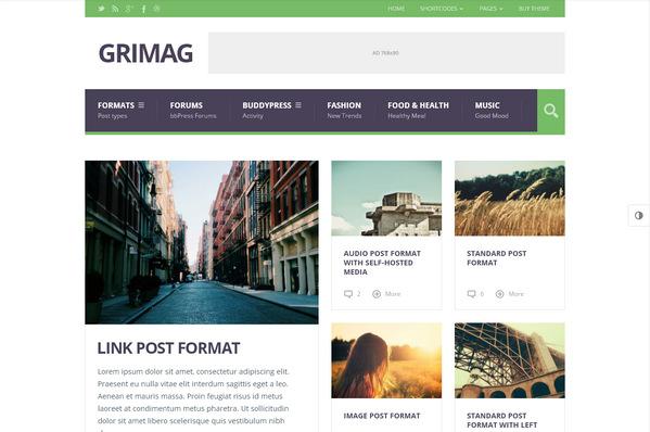 Grimag – журнальная тема WordPress оптимизированная под Adsense